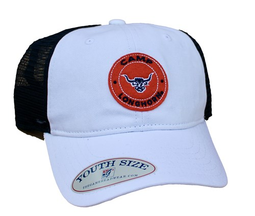 Youth White with Navy Trucker