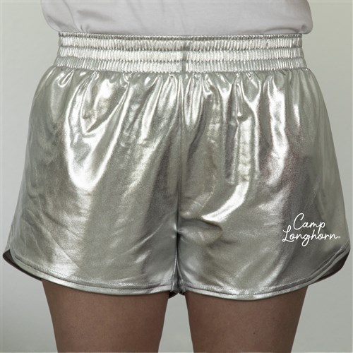 Adult Metallic Silver Shorts