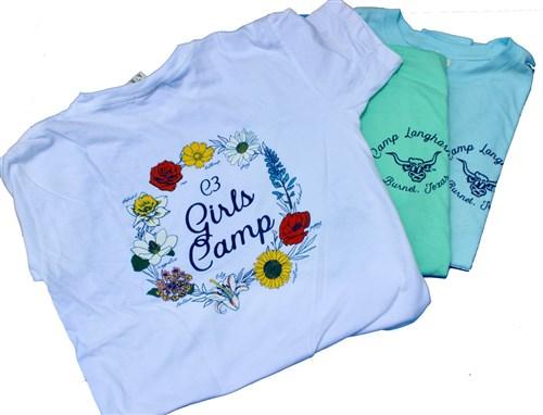 Girls Camp Flower Tee