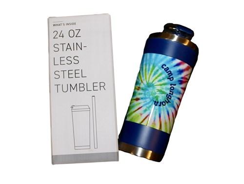 Blue Tie Dye Tumbler