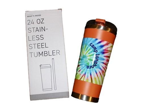 Orange Tie Dye Tumbler