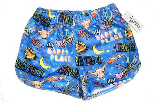 Youth Fuzzy PJ Shorts