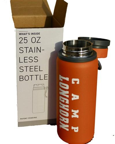 Orange Stainless Water Bottle