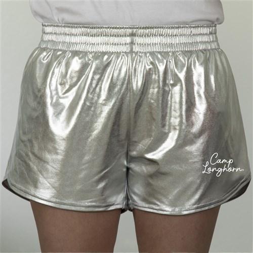 Metallic Silver Adult Shorts