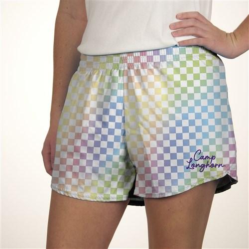 Adult Pastel Checkered Shorts